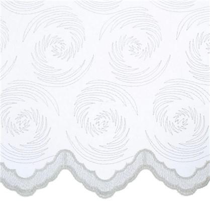 Тюль с вышивкой Мелкий Вензель 1 п/м 280 см органза цвет кремовый цена