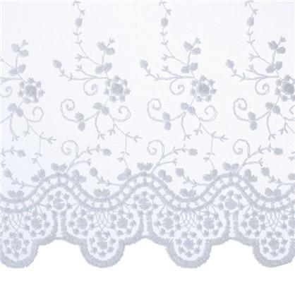 Тюль с вышивкой на сетке Цветы 1 п/м 280 см цвет кремовый цена