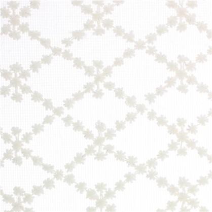 Тюль с вышивкой Ромбики сетка 290 см цвет кремовый