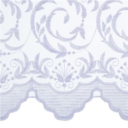 Тюль с вышивкой Завиток 1 п/м 280 см органза цвет белый цена