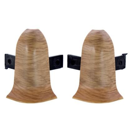Угол для плинтуса внешний Дуб Древний 55 мм 2 шт. цена