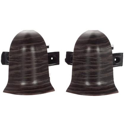 Угол для плинтуса внешний Дуб Палёный 47 мм 2 шт. цена