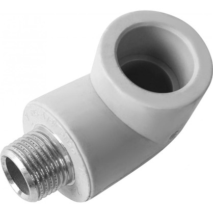Угол комбинированный FV-Plast -Plast наружная резьба 25х1/2 мм полипропилен
