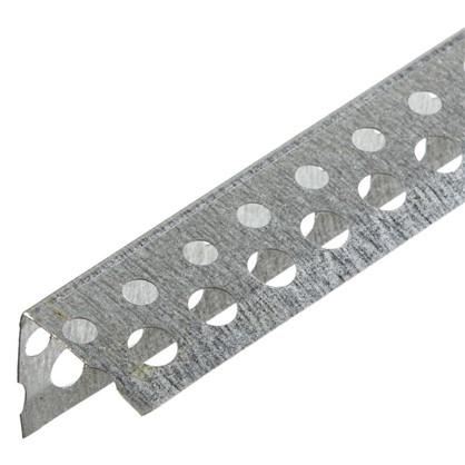 Угол оцинкованный перфорированный 25x25x3000 мм