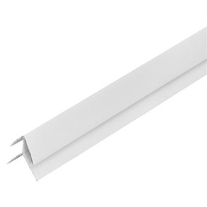 Угол ПВХ наружный 2440 мм цвет белый цена