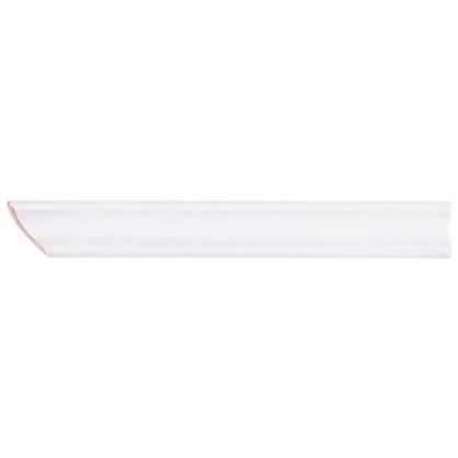 Уголок керамический срез левый 45 градусов 200х25 мм цвет белый цена