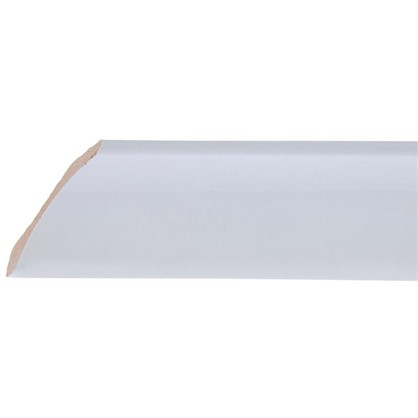 Уголок керамический срез левый 45 градусов 200х55 мм цвет белый цена