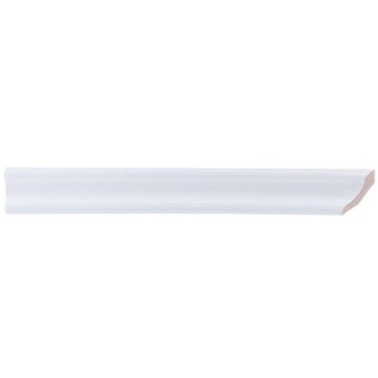 Уголок керамический срез правый 45 градусов 200х25 мм цвет белый