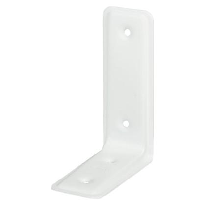 Уголок мебельный усиленный 115х80х40 мм цвет белый 4 шт.