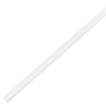Уголок ПВХ 10x10x1x1000 мм цвет белый цена