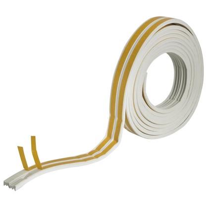 Уплотнитель для окон белый E-профиль 9х4 мм х 6 м