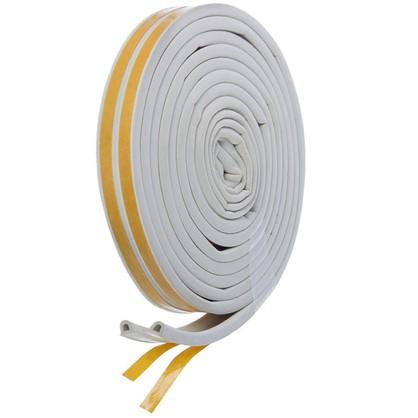 Уплотнитель для окон белый P-профиль 9х5.5 мм х 6 м
