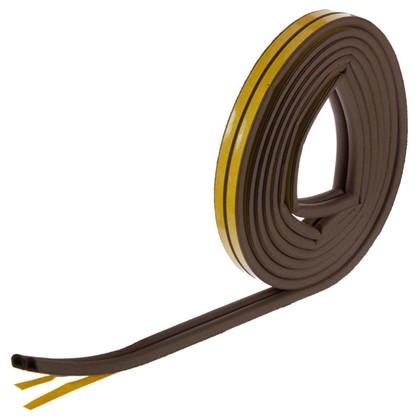 Уплотнитель для окон коричневый D-профиль 9х8 мм х 6 м