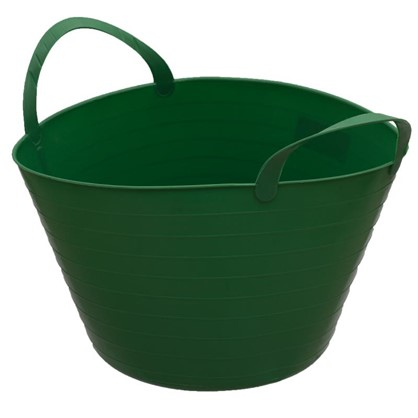 Ведро с ручками гибкое зелёное 14 л мягкий пластик