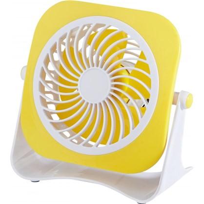 Вентилятор мини настольный 10 см 3W желт USB