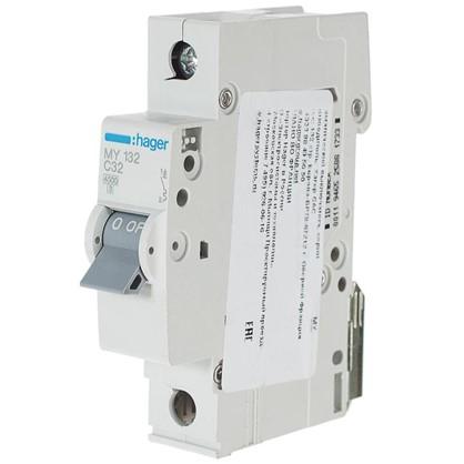 Автоматический выключатель Hager 1 полюс 32 A цена