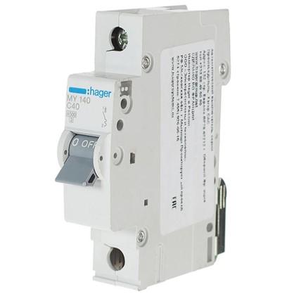 Автоматический выключатель Hager 1 полюс 40 A цена