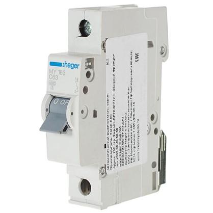 Автоматический выключатель Hager 1 полюс 63 A цена
