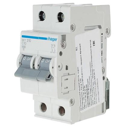 Автоматический выключатель Hager 2 полюса 10 A цена