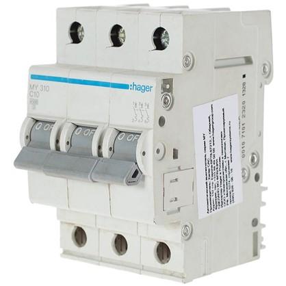 Автоматический выключатель Hager 3 полюса 10 A цена