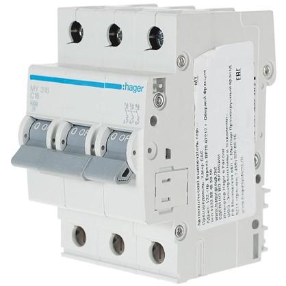 Автоматический выключатель Hager 3 полюса 16 A