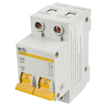 Автоматический выключатель IEK Home В А47-29 2 полюса 50 А цена