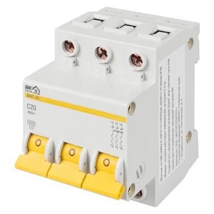 Автоматический выключатель IEK Home В А47-29 3 полюса 20 А