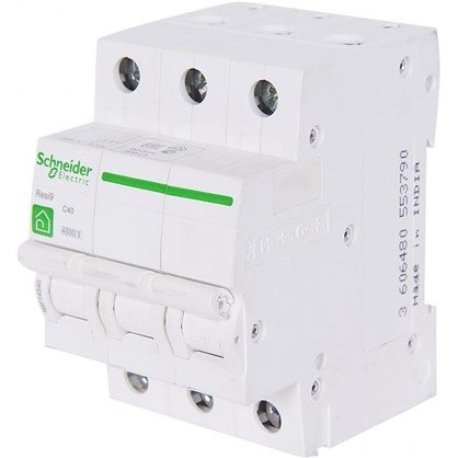 Автоматический выключатель Schneider Electric Resi9 3 полюса 40 A цена