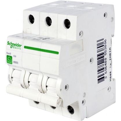 Автоматический выключатель Schneider Electric Resi9 3 полюса 50 A цена