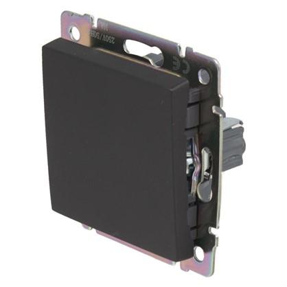 Выключатель Werkel 1 клавиша проходной цвет черный цена