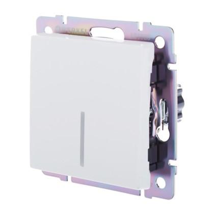 Выключатель Werkel 1 клавиши с подсветкой проходной цвет белый цена