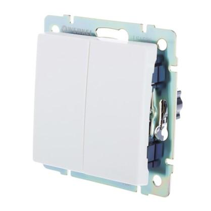 Выключатель Werkel 2 клавиши цвет белый цена