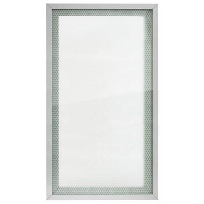Витрина для шкафа Гексогон 40x70 см алюминий/стекло цвет бежевый цена