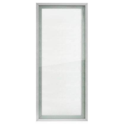 Витрина для шкафа Гексогон 40x92 см алюминий/стекло цвет бежевый цена