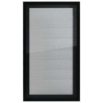 Витрина для шкафа Лайн 40x70 см алюминий/стекло цвет серый