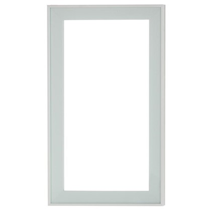 Витрина Фрост 60х35 см алюминий/стекло цвет матовый алюминий цена