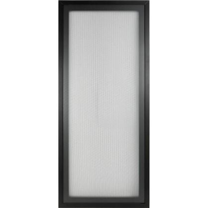 Витрина Лайн 40х70 см алюминий/стекло цвет черный цена