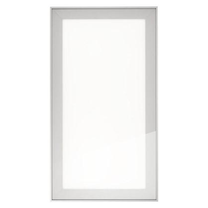 Витрина матовая 40х70 см алюминий цвет белый