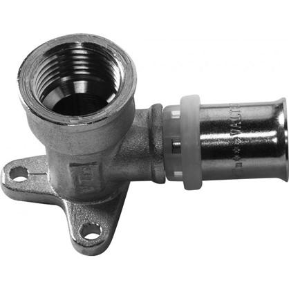 Водорозетка пресс Valtec 16х1/2 мм никелированная латунь цена