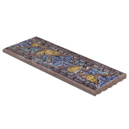 Вставка-подступенник Gresan Natural La Balma Azul 12х33 см клинкер цвет коричневый цена