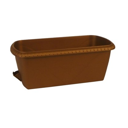 Ящик балконный Жардин коричневый 80 см пластик цена