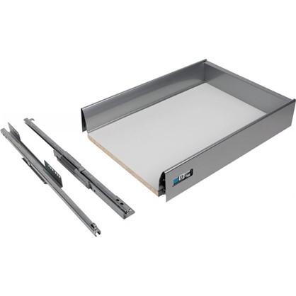 Ящик Delinia низкий с доводчиком 29.2х8.5х40 см металл цвет белый цена