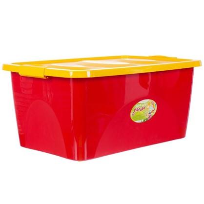 Ящик для игрушек 600x400x280 мм 44 л цвет красно-желтый