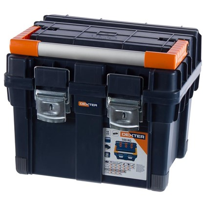 Ящик для инструмента Dexter HD Compact1 450х350х350 мм пластик цвет синий цена