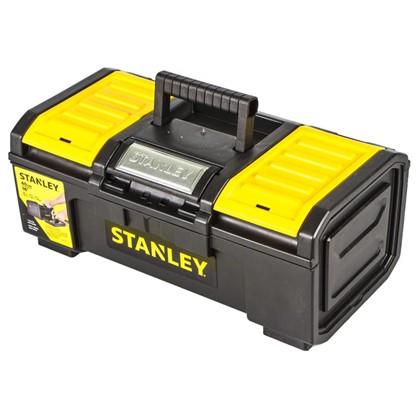 Ящик для инструмента Stanley 390х215х165 мм пластик цвет черный/желтый цена