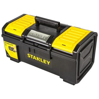 Ящик для инструмента Stanley 480х266х236 мм пластик черный/желтый цена