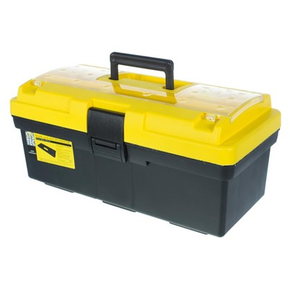 Ящик для инструмента Systec 195х185х415 мм пластик цвет черно-желтый