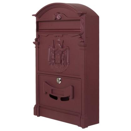 Ящик почтовый Standers MB-002-R алюминий/сталь цвет бордовый цена