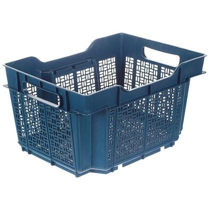 Ящик полимерный многооборотный 40х30х22 см пластик цвет синий цена