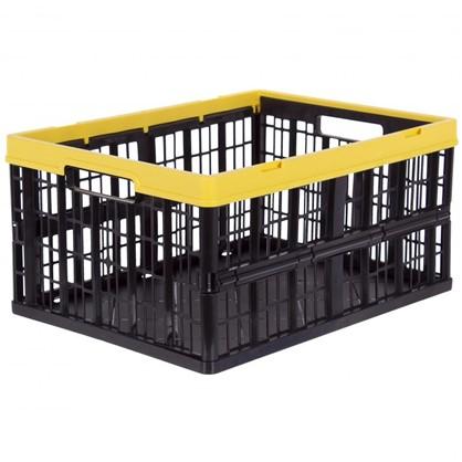 Ящик складной 35x23x48 см 32 л пластик цвет черный